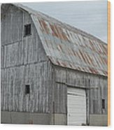Rusty Roof Barn Wood Print