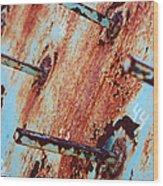 Rusty Spikes Wood Print