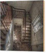 Rusty Stairs Wood Print