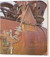Rusty Steam Tractor Wood Print