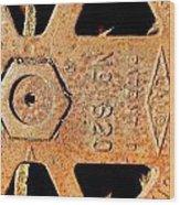 Rusty Steel Wood Print