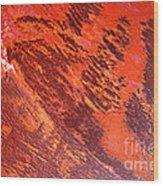 Rusty Textures Wood Print
