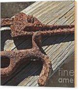 Rusty Tools II Wood Print