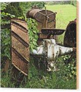 Rusty Tractor 1  Wood Print
