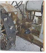 Rusty Tractor Wood Print