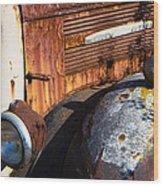 Rusty Truck Detail Wood Print