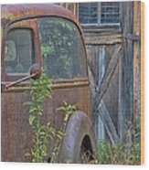 Rusty Vintage Ford Panel Truck Wood Print