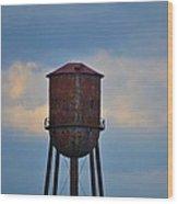 Rusty Watertower Wood Print