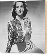 Ruth Warrick, Ca. Late 1940s Wood Print