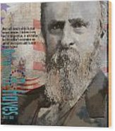 Rutherford B. Hayes Wood Print