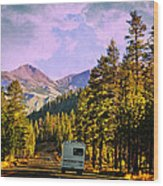 Rv And See America Wood Print