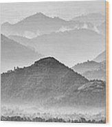 Rwanda Hills Wood Print