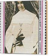 Rwanda Stamp Wood Print