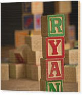 Ryan - Alphabet Blocks Wood Print