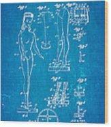 Ryan Barbie Doll Patent Art 1961 Blueprint Wood Print