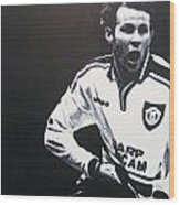 Ryan Giggs - Manchester United Fc Wood Print