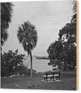 Ryckman House In Melbourne Beach Florida Wood Print by Allan  Hughes