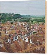Rye Town Roofs Wood Print