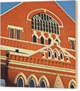 Ryman Auditorium Wood Print by Brian Jannsen