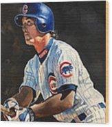 Ryne Sandberg - Chicago Cubs Wood Print