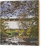 Ryot Covered Bridge And Stream Wood Print