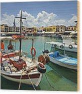 Rythemno Greece Wood Print
