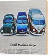S M L Wood Print