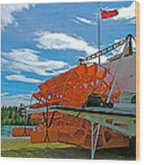 S S Klondike On Yukon River In Whitehorse-yt Wood Print