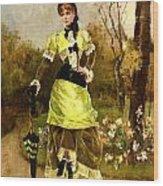 Sa Majeste La Parisienne Wood Print by Alfred Stevens