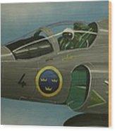 Saab Viggen Gruppo 4 Cockpit Wood Print
