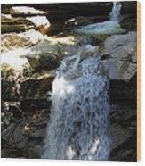 Sabbaday Falls New Hampshire Wood Print