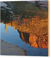 Sabino Canyon Reflection Wood Print