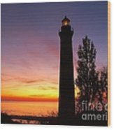 Sable Point Sunset Wood Print