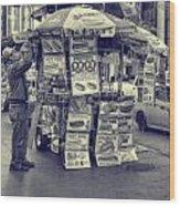 Sabrett Vendor New York City Wood Print