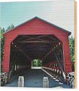 Sachs Covered Bridge 3 Wood Print