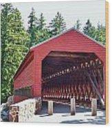 Sachs Covered Bridge 4 Wood Print