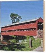 Sachs Covered Bridge Wood Print