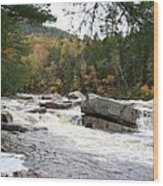 Saco River Rapids North Conway I Wood Print