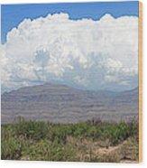 Sacramento Mountains Storm Clouds Wood Print