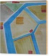 Sacramento River Delta I Wood Print