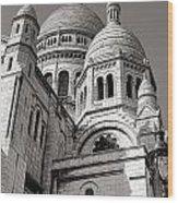 Sacre Coeur Architecture  Wood Print