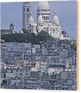 Sacre - Coeur Basilica Wood Print