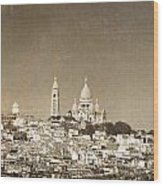 Sacre Coeur Basilica Of Montmartre In Paris Wood Print