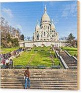 Sacre Coeur - Basilica Overlooking Paris Wood Print