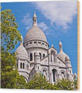 Sacre Coeur Basilica Paris France Wood Print