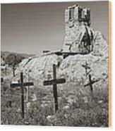 Sacred Cross Wood Print