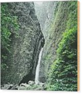 100450-sacred Falls  Wood Print