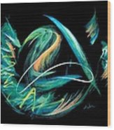 Sacred Feather Dance Wood Print