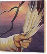 Sacred Feathers Wood Print by Robert Hooper