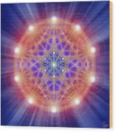 Sacred Geometry 168 Wood Print